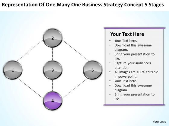 Many Business Strategy Concepts 5 Stages Ppt Prepare Plan PowerPoint Slides