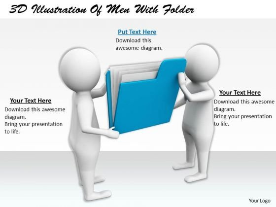 Marketing Concepts 3d Illustration Of Men With Folder Characters