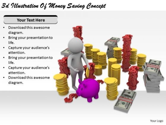 Marketing Concepts 3d Illustration Of Money Saving Business Statement