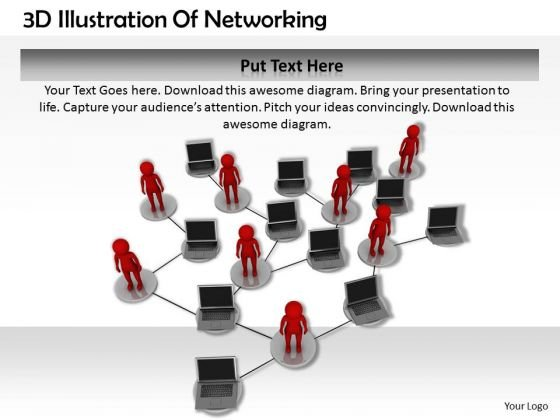 Marketing Concepts 3d Illustration Of Networking Characters
