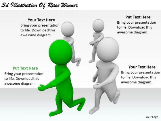 Marketing Concepts 3d Illustration Of Race Winner Business Statement