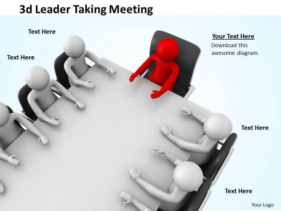 Marketing Concepts 3d Leader Taking Meeting Characters