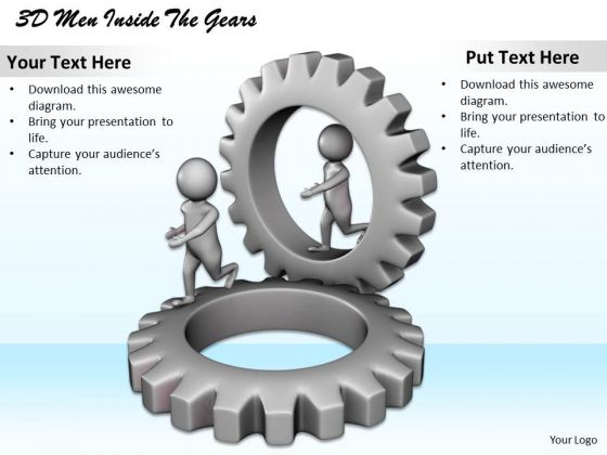 Marketing Concepts 3d Men Inside The Gears Character Models