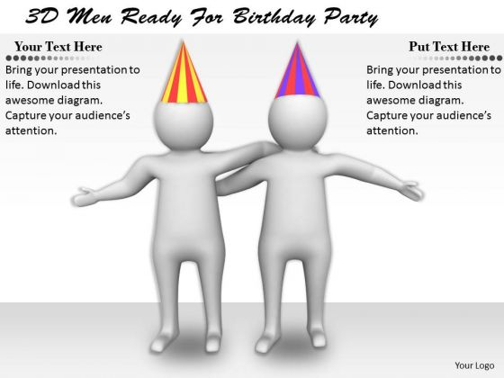 Marketing Concepts 3d Men Ready For Birthday Party Character Models