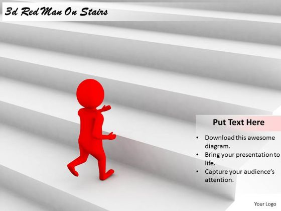 Marketing Concepts 3d Red Man Stairs Business