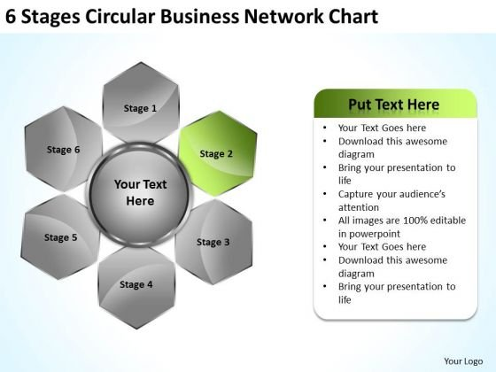 Marketing Concepts 6 Stages Circular Business Network Chart Strategy