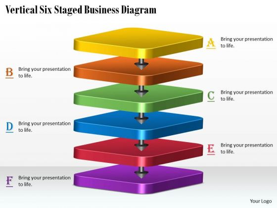 Marketing Concepts Vertical Six Staged Business Diagram Strategic Plan