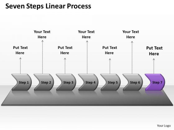 Marketing PowerPoint Template Seven Steps Non Linear Presentation Process Business Image
