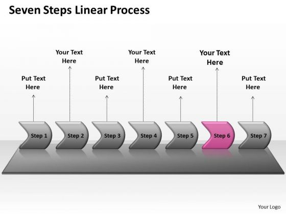 Marketing PowerPoint Template Seven Steps Non Linear Presentation Process Image