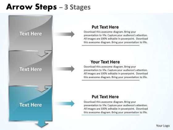 Marketing Ppt Arrow Practice The PowerPoint Macro Steps 3 Stages 4 Image