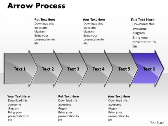Marketing Ppt Arrow Process 6 State Diagram Communication Skills PowerPoint 7 Image