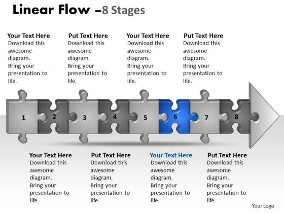 Marketing Ppt Linear Flow 8 Power Point Stage Style1 Business Management PowerPoint 7 Design