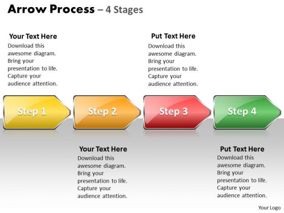 Marketing Ppt Template Arrow Process 4 Stages Style 1