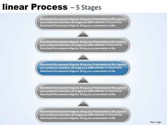 Marketing Ppt Template Linear Process 5 Stages Operations Management PowerPoint 4 Design