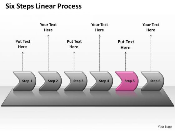 Marketing Ppt Template Six Practice The PowerPoint Macro Steps Linear Process 6 Image