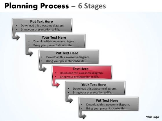 Marketing Ppt Theme Organizable Process 6 Steps Business Communication PowerPoint 5 Image
