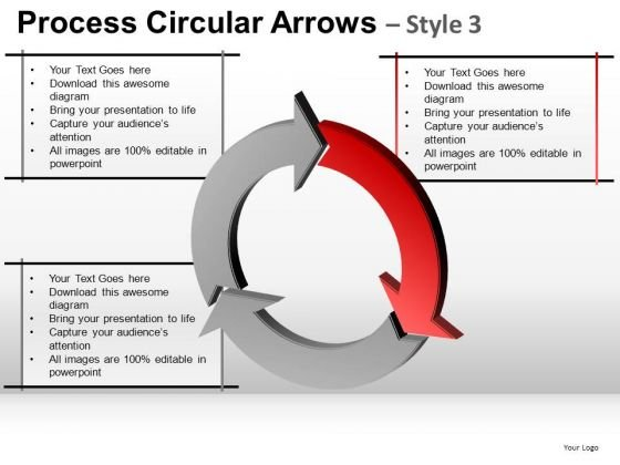 Marketing Process Circular Arrows PowerPoint Slides