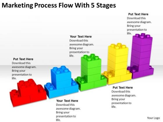 marketing process flow with 5 stages ppt business plan layouts powerpoint templates powerpoint templates