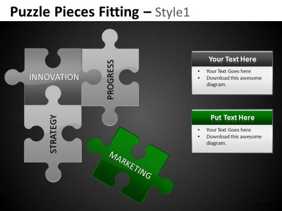 Marketing Strategy Puzzle PowerPoint Slides Editable Ppt Templates