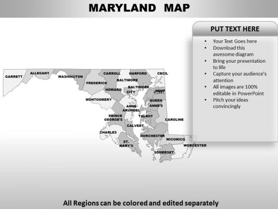 Maryland PowerPoint Maps