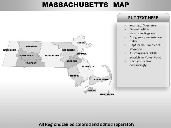 Massachusetts PowerPoint Maps