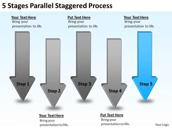 Massively Parallel Processing Staggered Ppt PowerPoint Templates Backgrounds For Slides