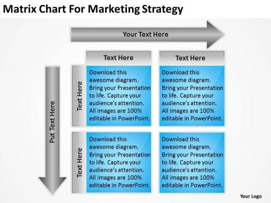matrix chart for marketing strategy ppt business proposal examples, Powerpoint templates