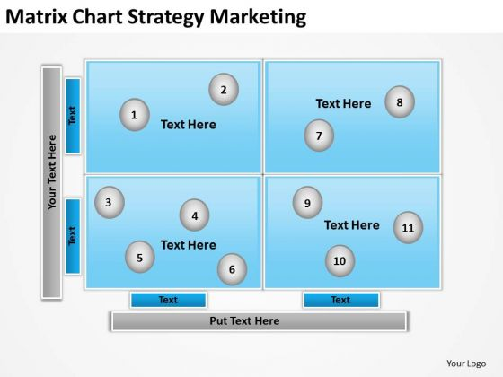 Matrix Chart Strategy Marketing Ppt Computer Business Plan PowerPoint Slides