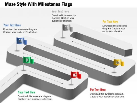 maze_style_with_milestones_flags_presentation_template_1