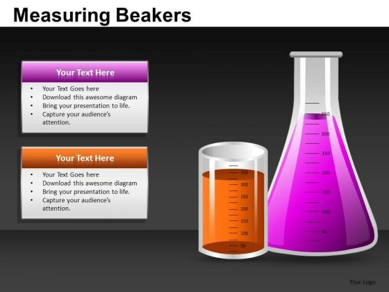 Measuring Beakers Flasks PowerPoint Image Graphics Ppt Slides