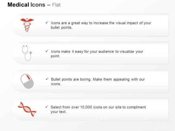 Medical Symbol Stethoscope Pill Dna Design Ppt Slides Graphics