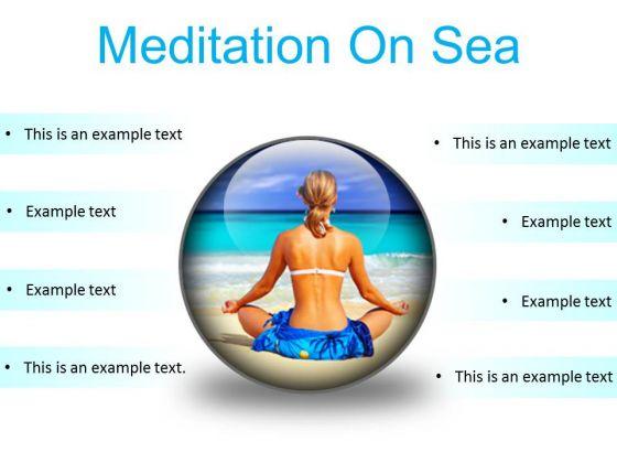 Meditation On Sea Beach PowerPoint Presentation Slides C