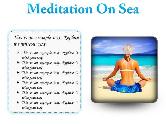 Meditation On Sea Beach PowerPoint Presentation Slides S