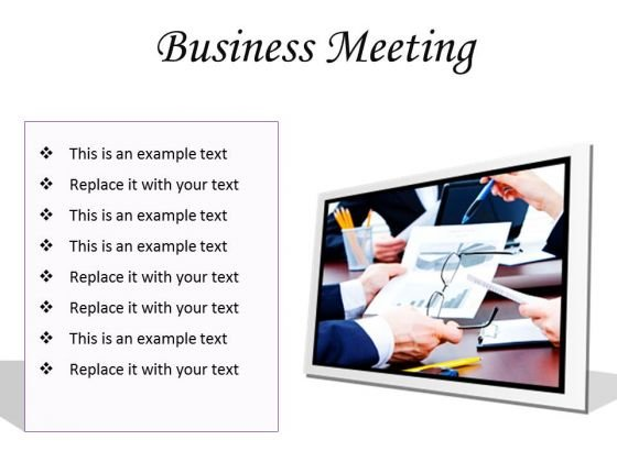 Meeting Business Success PowerPoint Presentation Slides F