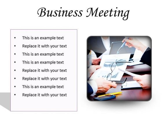 Meeting Business Success PowerPoint Presentation Slides S