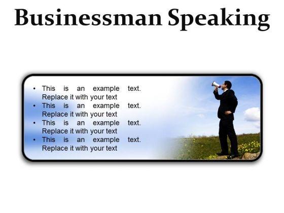 Megaphone Business PowerPoint Presentation Slides R