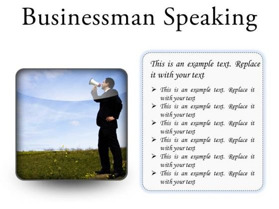 Megaphone Business PowerPoint Presentation Slides S