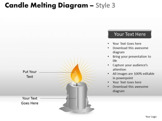 Melting Away Candle Diagram PowerPoint Slides And Ppt Diagram Templates