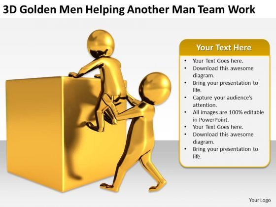 Men At Work Business As Usual Another Man Team PowerPoint Templates Ppt Backgrounds For Slides