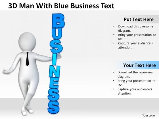 Men At Work Business As Usual Blue Text PowerPoint Templates Ppt Backgrounds For Slides