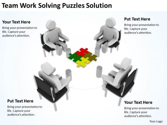 Men At Work Business As Usual Puzzles Solution PowerPoint Templates Ppt Backgrounds For Slides