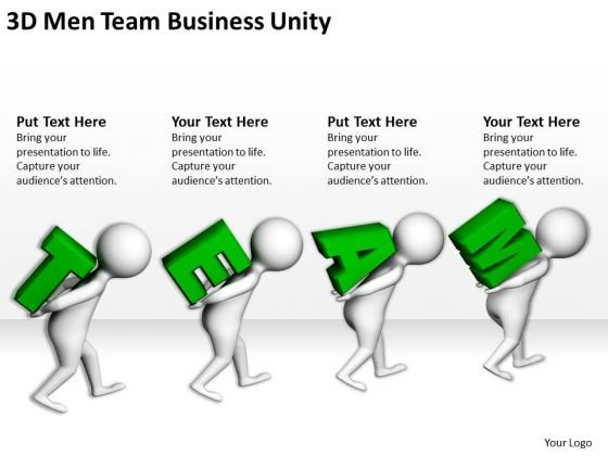 Men At Work Business As Usual Team PowerPoint Presentations Unity Templates