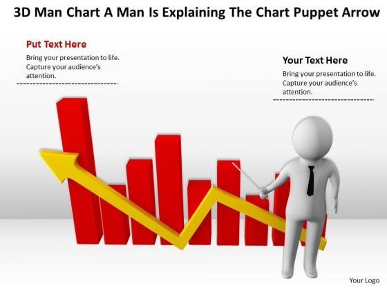 Men In Business A Is Explaining The Puppet Arrow PowerPoint Templates Ppt Backgrounds For Slides