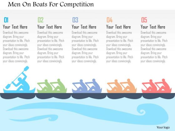 Men On Boats For Competition Presentation Template