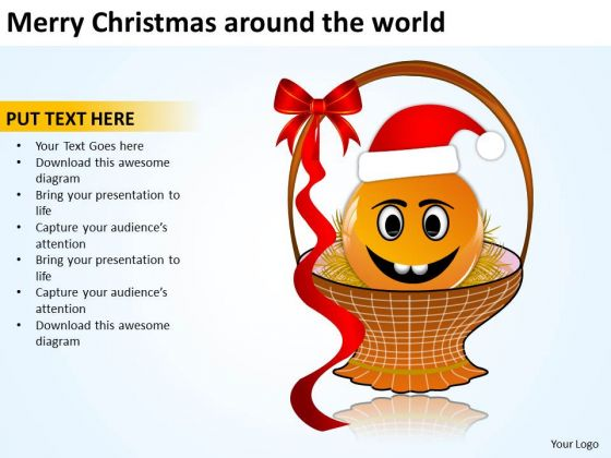 Merry Christmas Around The World Festival Holiday PowerPoint Templates