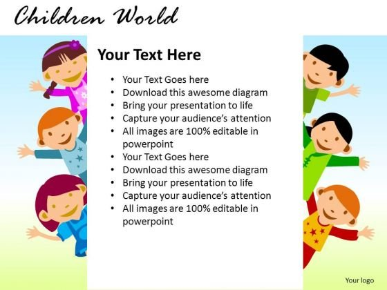 Message Children World Point Slides And Ppt Templates 1 2