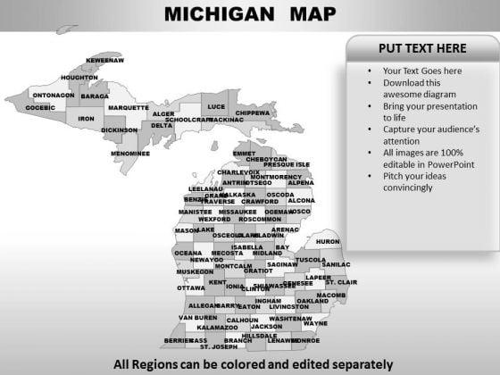 Michigan PowerPoint Maps