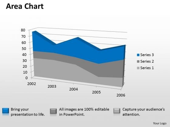 Microsoft Excel Data Analysis 3d Area Chart Showimg Change In Values PowerPoint Templates