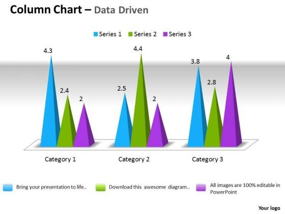 Microsoft Excel Data Analysis 3d Change In Business Process Chart PowerPoint Templates