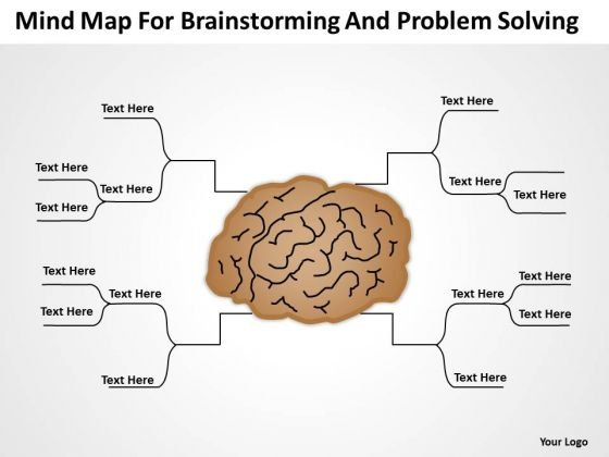 Mind Map For Brainstorming And Problem Solving Ppt Basic Business Plan Outline PowerPoint Slides